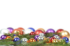 Christmas Balls Border Royalty Free Stock Images