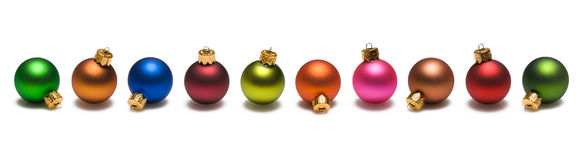 Christmas Balls Border royalty free stock photo