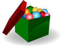 Christmas balls in a box Royalty Free Stock Images