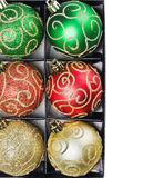 Christmas balls in a box Stock Image