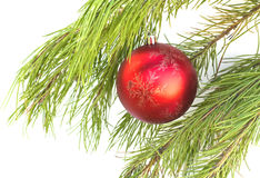 The christmas balls on the brach Royalty Free Stock Image
