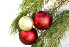 The christmas balls on the brach Royalty Free Stock Photo