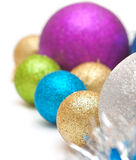 Christmas balls  of  bright colors Royalty Free Stock Images