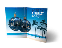 Christmas Balls brochure, Card Illustration Stock Images