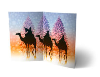 Christmas Balls Brochure, Card Illustration Royalty Free Stock Photos
