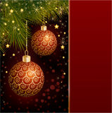 Christmas balls and candle. Royalty Free Stock Photo