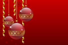 Christmas balls card Stock Images