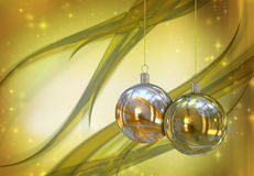 Christmas balls card Royalty Free Stock Image