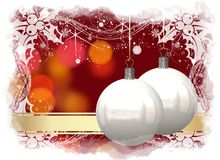 Christmas balls card Stock Image