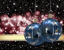 Christmas balls card Royalty Free Stock Images