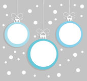 Christmas balls card Stock Images