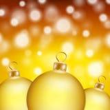 Christmas balls card Royalty Free Stock Images