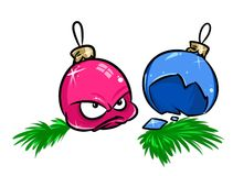 Christmas balls cartoon Stock Photo