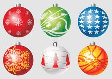 Christmas balls.cdr. Illustration of 6 different christmas balls vector stock illustration
