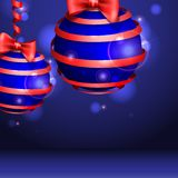 Christmas Balls. Celebratory Background. Vector Illustration. Eps 10 royalty free illustration