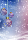 Christmas balls on the Christmas background Stock Images