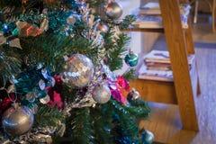 Christmas Balls on Christmas Tree Royalty Free Stock Photo