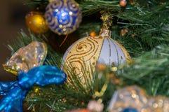 Christmas Balls and Christmas-Tree Decorations Stock Photos