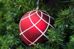 Christmas balls and Christmas tree Stock Images