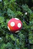 Christmas balls and Christmas tree Stock Image