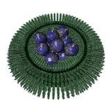 Christmas balls - Christmas wreath Royalty Free Stock Photography