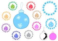 Christmas balls clipart Stock Photos