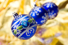 Christmas balls . close up Stock Images
