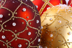 Christmas balls close up Royalty Free Stock Images