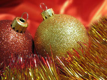 Christmas Balls Close-Up Stock Images