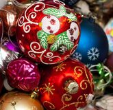 Christmas balls close-up Stock Photo