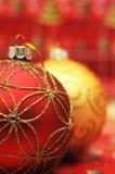 Christmas balls closeup Stock Photo