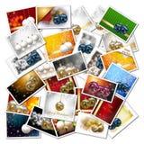 Christmas balls collage Stock Image