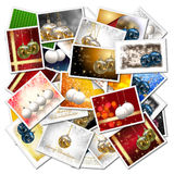 Christmas balls collage Stock Images
