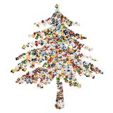 Christmas balls collage Stock Photos