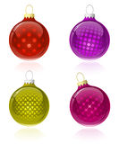 Christmas balls collection Royalty Free Stock Images