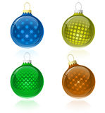 Christmas balls collection Stock Images