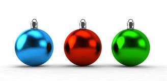 Christmas balls collection Stock Photos