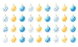 Christmas balls collection Stock Image