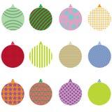 Christmas balls collection vector set stock photo
