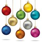 Christmas balls color set. Royalty Free Stock Photos