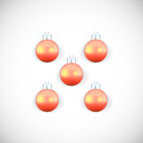 Christmas balls colored in red. Royalty Free Stock Image