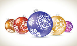 Christmas balls colorful lie set for christmas tree decoration. Stock Photography