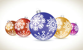 Christmas balls colorful lie set for christmas tree decoration. Stock Image