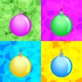 Christmas balls. Colorful Christmas Balls. Vector Set Stock Photography