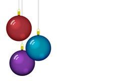 Christmas balls. Coloured christmas balls with reflection Royalty Free Stock Image