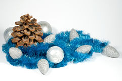 Christmas balls and cones Stock Photo