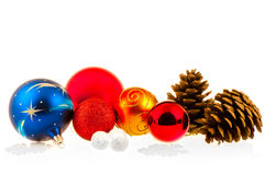 Christmas balls and cones Royalty Free Stock Images