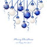 Christmas balls and confetti Stock Image