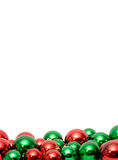 Christmas balls with copyspace Stock Photography