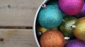 Christmas balls. A couple of christmas balls in a bowl Stock Photo